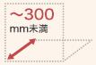 奥行き:300mm未満