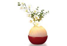 小さな仏壇に合うミニサイズ!光と花のモダン盆提灯